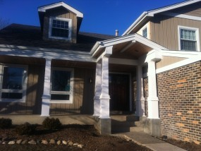 New Portico Installation In Hawthorne Woods